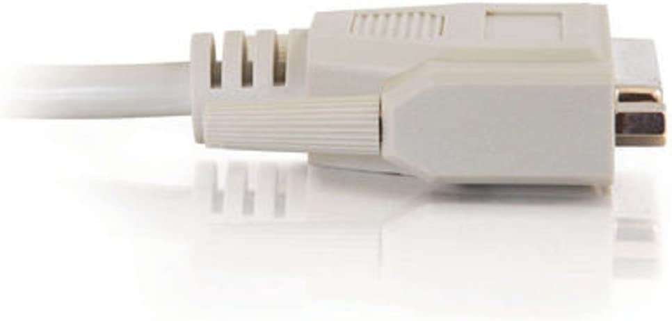 C2G 02644 DB25 F//F Serial RS232 Extension Cable 6 Feet, 1.82 Meters Beige