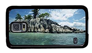 Hipster rubber Samsung Galaxy S5 Case rocky island PC Black for Samsung S5