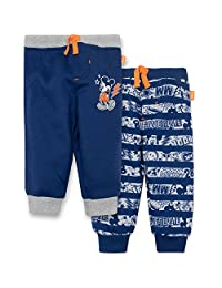 Disney Mickey Mouse Baby Boys' 2 Pack Fleece Drawstring Jogger Pants, Black