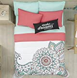 LIMITED EDITION MANDALA TEENS GIRLS CUTE COLLECTION REVERSIBLE COMFORTER SET AND SHEET SET 6 PCS TWIN SIZE
