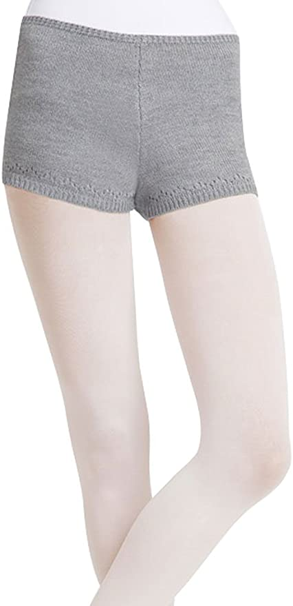 tanzmuster ballet socks Lara made of extra soft microfibre cotton for children in pink-apricot and white