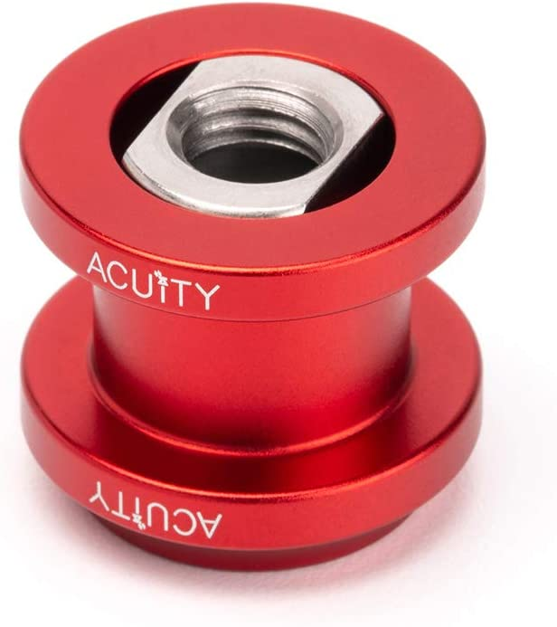 Satin Red Aluminum Finish ACUITY Instruments Shift Boot Collar Upgrade
