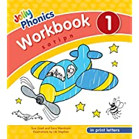 Jolly Phonics Workbook 1 in Print Letters: In Print Letters (American English Edition)