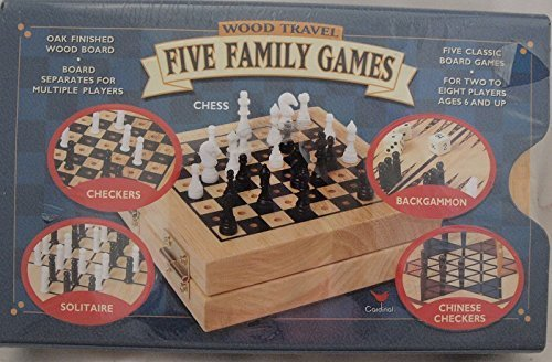 Kids Collection Wood Travel Five Family Games Amazoncouk Toys