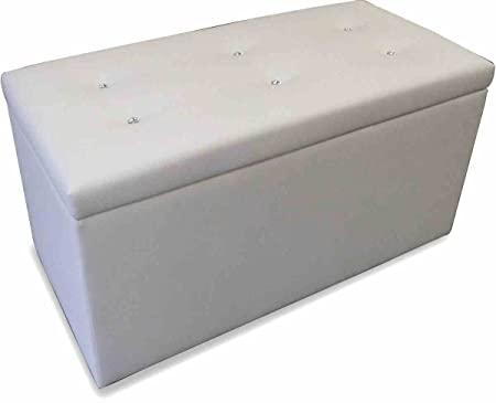 Glamour Ottoman Storage Box Bedroom Chest White / Cream Normally £119 in Argos  sc 1 st  Amazon UK & Glamour Ottoman Storage Box Bedroom Chest White / Cream Normally ...
