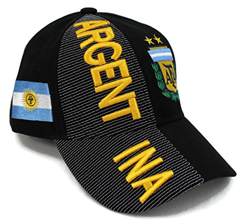 High End Hats Nations of South America Hat Collection Embroidered Adjustable Baseball Cap, Argentina with AFA Logo, - Argentina Collection