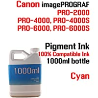 Cyan Pigment Ink 1000ml 100% compatible bottle ink Canon...
