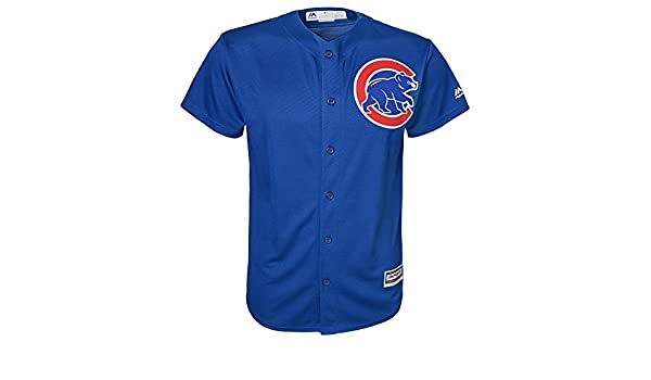 a6ea9b53f3b Amazon.com : Majestic Athletic Chicago Cubs Alternate Blue Cool Base Youth  Jersey : Sports & Outdoors