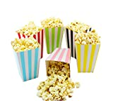 popcorn and candy holder - Colorful Striped Popcorn Boxes Cardboard Candy Container for Carnival Thanksgiving Day Party Movie Fiesta VBS 24 Pieces