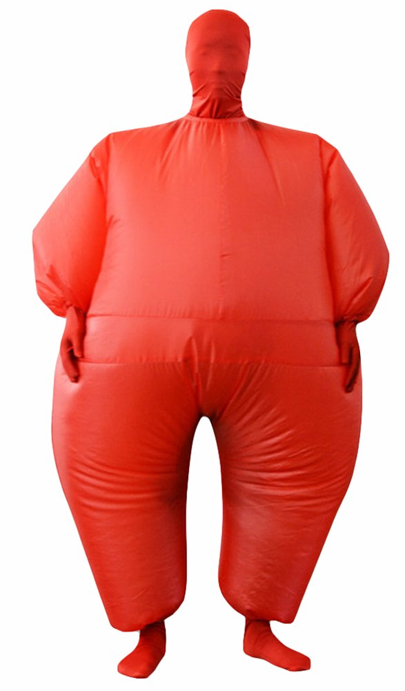 Binglinghua 1pcs Wrestling Sumo Fat Suits Fancy Dress Funny Costume Halloween Cosplay (Red) by Binglinghua®