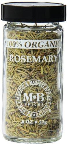 Morton & Basset Spices, Organic Rosemary, 0.8 Ounce (Pack of - 100% Extract Organic Hazelnut
