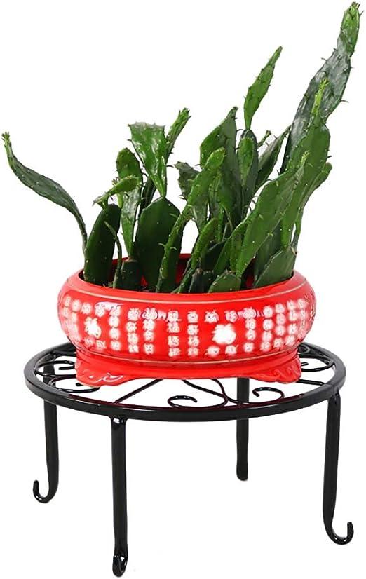 Puesto de plantas Soporte de flores de pie, estante redondo para ...