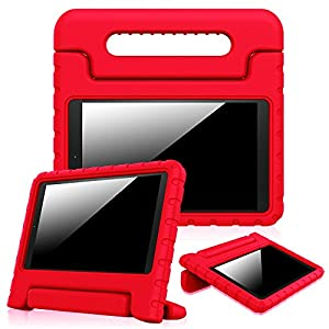 """Fintie Case for Fire HD 10 (Previous Generation - 5th), Kiddie Series Shock Proof Light Weight Convertible Handle Stand Kids Friendly Cover for Amazon Fire HD 10.1"""" Tablet 2015 release, Red"""