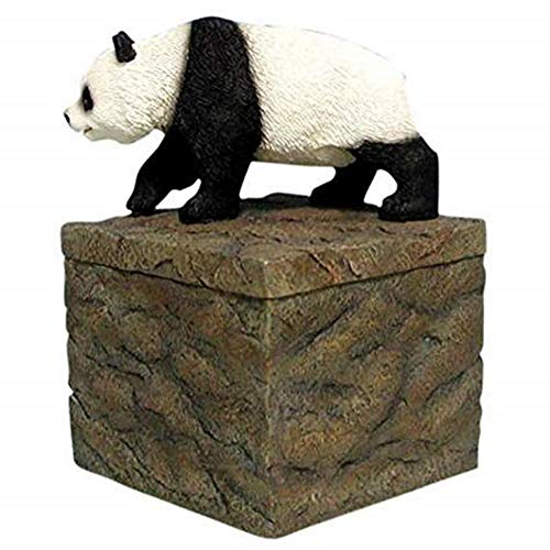 WL SS-WL-14819, 5 Inch Walking Panda Bear on Rock Box Collectible Candle Holder 5