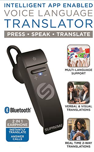 Portable Language Translator Device – Translate Headphone – Voice  Translation Earpiece – Real Time Two-Way Translation Gadget – Bluetooth