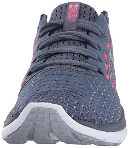 Under Armour Women's Slingflex Running Shoe, Black, M US Apollo Gray/Penta Pink