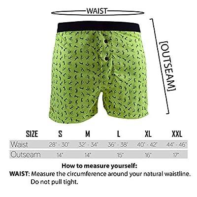 Santa Playa Signature SP Super Soft Breathable Boxer Shorts, Fun Print Men's Underwear : Neon Little Dancers at  Men's Clothing store