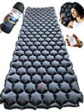 Rayan Deluxe Backpacking Sleeping Pad for Camping, Hiking or Travel - Ultralight Self Inflating Sleep Mat - Lightweight, Compact and Comfortable Camp Air Mattress