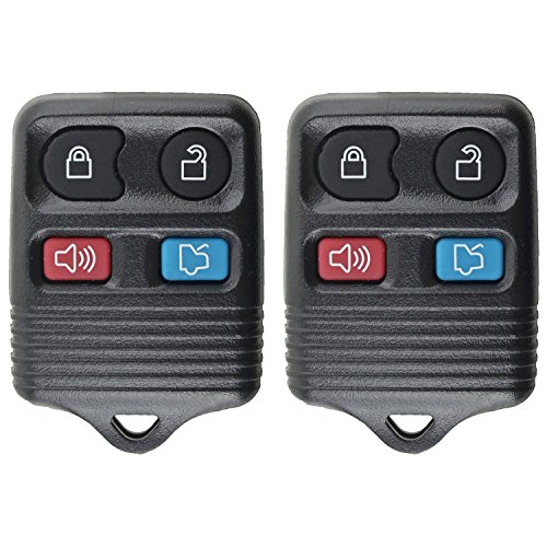 2 QualityKeylessPlus 4 Button Keyless Entry Replacement Remote For FCC ID: CWTWB1U331 FREE KEYTAG 2002 Alarm