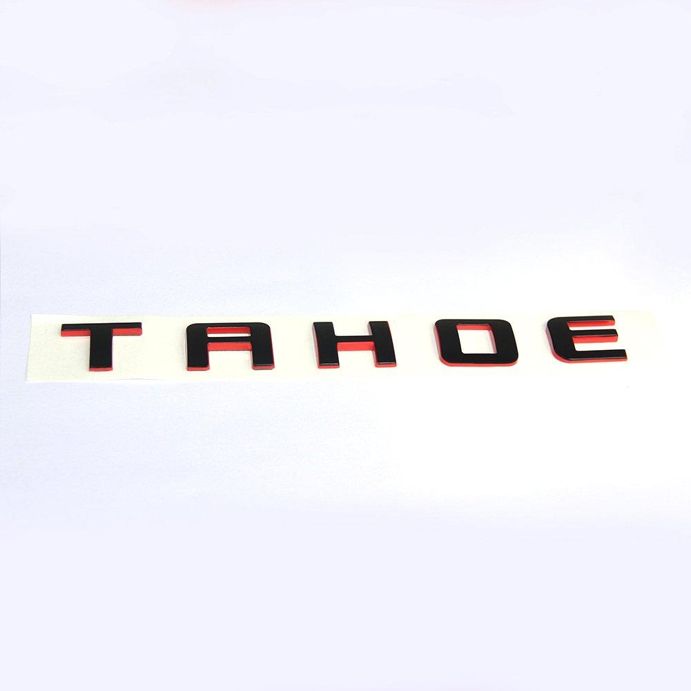 Yoaoo 1pc OEM Tahoe Red Line Nameplate Emblem Badge letter 3D Logo for Suburban Original Redline Yoaoo-GM