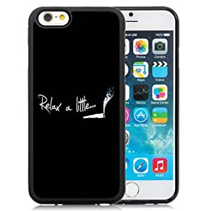 Beautiful Unique Designed iPhone 6 4.7 Inch TPU Phone Case With Relax A Little Smoke Weed_Black Phone Case