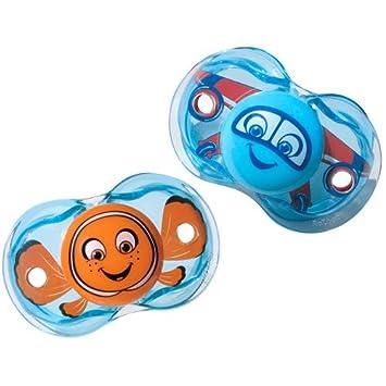 Razbaby Keep-It-Kleen Pacifier Blue Polka Dots