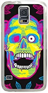 Artistic Psychedelic Hard Shell Samsung Galaxy S5 I9600 Case with Transparent Skin