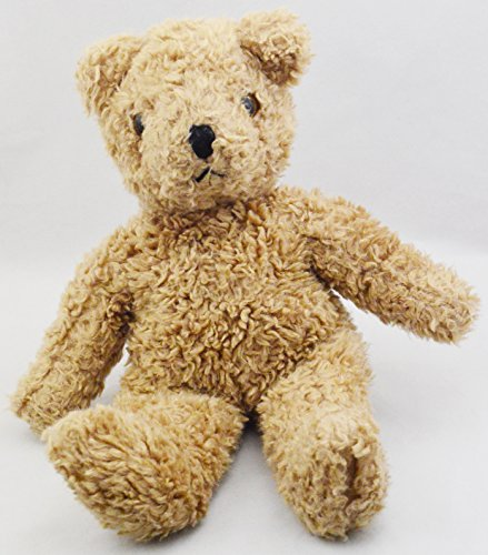 Vintage 1992 Ty Classic Brown Plush Curly Fur Teddy Bear Stuffed Animal Toy (Curly Teddy)