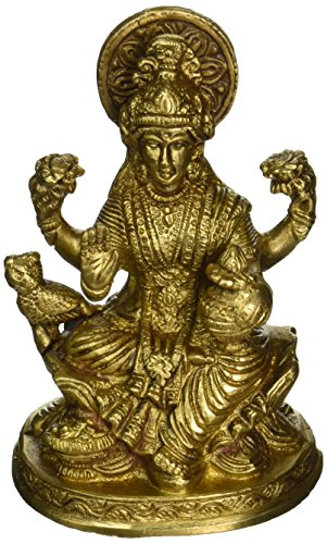 5-vintage-handmade-handcrafted-religious-gift-solid-brass-statues-sculptures-of-hindu-goddess-lakshm