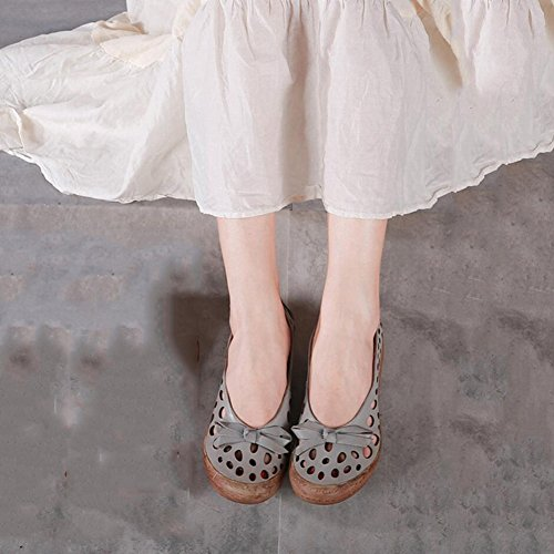 Shoes Evening B amp; National XUE Ons fall B Size Shoes amp; Women's 40 Spring Slip Leather Walking Loafers Shoes style Office Driving Party Breathable Color w14Uq6