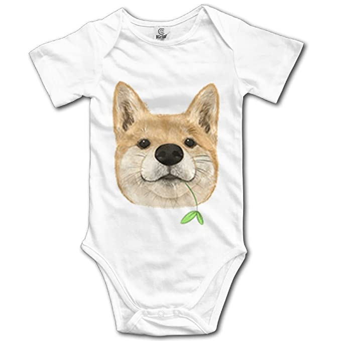 Rainbowhug Shiba Inu Dog Unisex Baby Onesie Cute Newborn Clothes Unique Baby Outfits Soft Baby Clothes