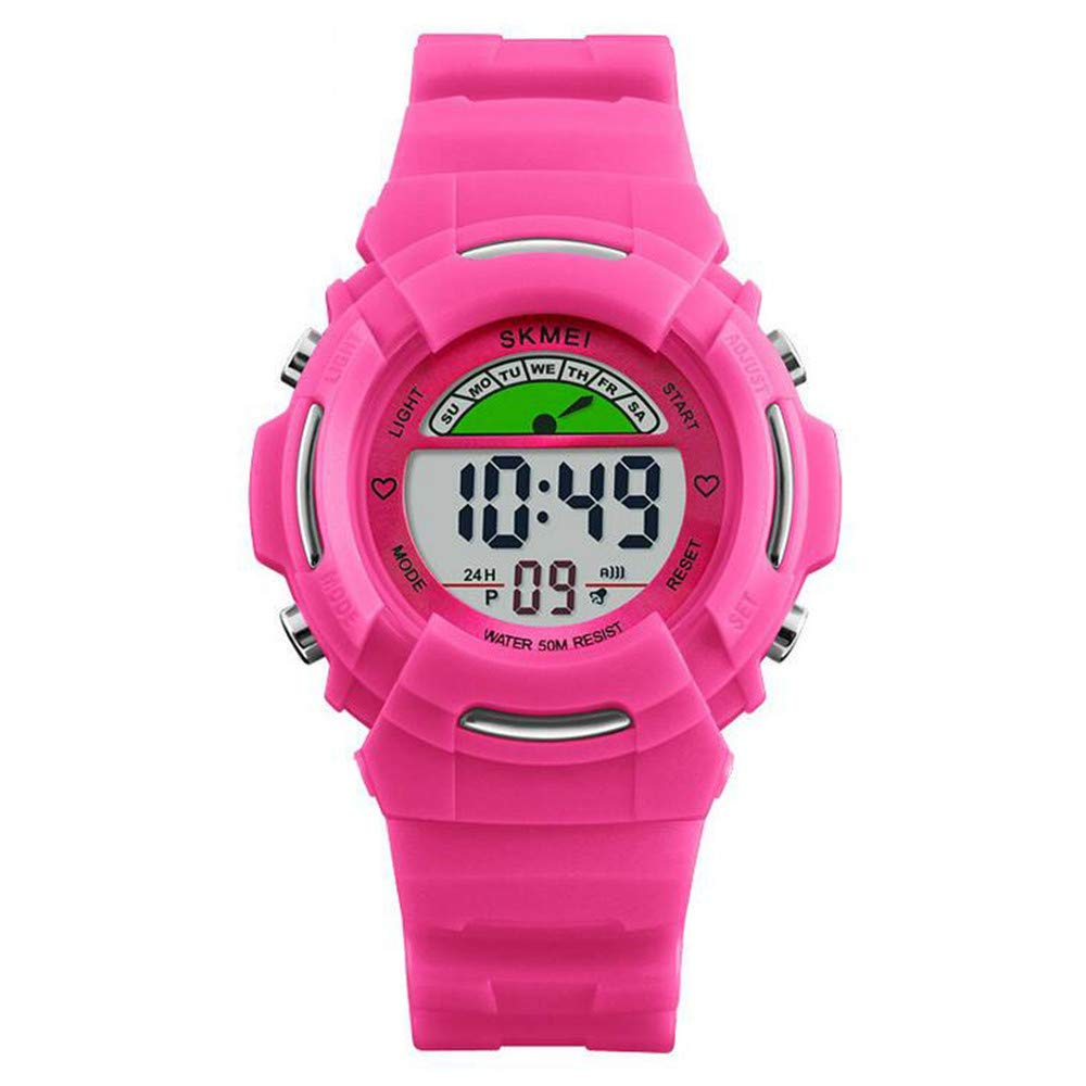 Trend Personality Watch/Children's Electronic Watch/Student Timing Alarm Clock Weeklight Watch