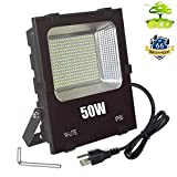 50W Super Bright Outdoor LED Flood Lights-Waterproof Outside Work Light Fixtures,Exterior Security Lamp for Garage,Garden,Yard,Lawn,Patio,Landscape Wall Lighting,Daylight 110V-240V