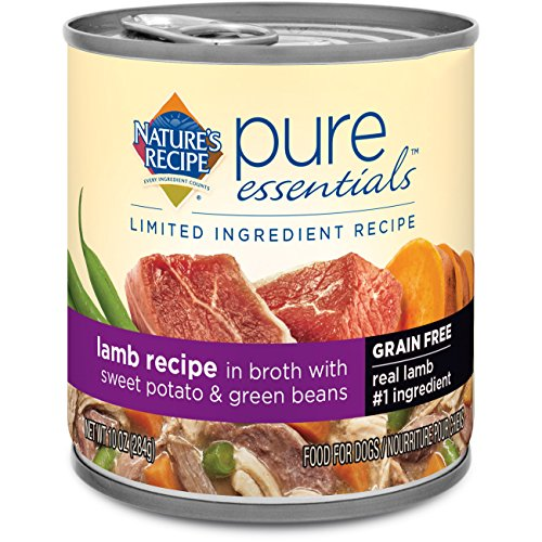 Nature's Recipe Pure Essentials Grain Free Lamb Recipe in Broth (24 Pack), 10 oz