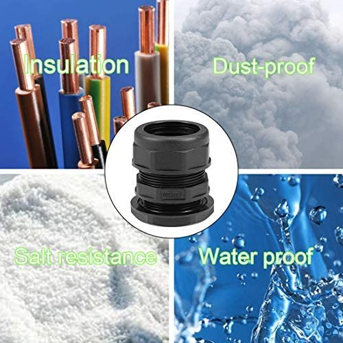 Waterproof Cable Gland Corrugated Pipe Gasket AD28.5 Locknuts Pipe Clamps 3 pieces