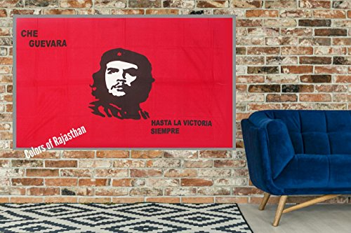 Che Guevara Face Tapestry, Indian Wall Hanging, Hippie Decor, Bohemian Bedding Single Boho Picnic Throw Gypsy Beach Blanket Tapestries Wall Art By Colors Of Rajasthan