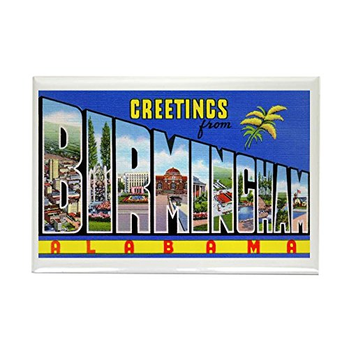 CafePress Birmingham Alabama Greetings Rectangle Magnet, 2