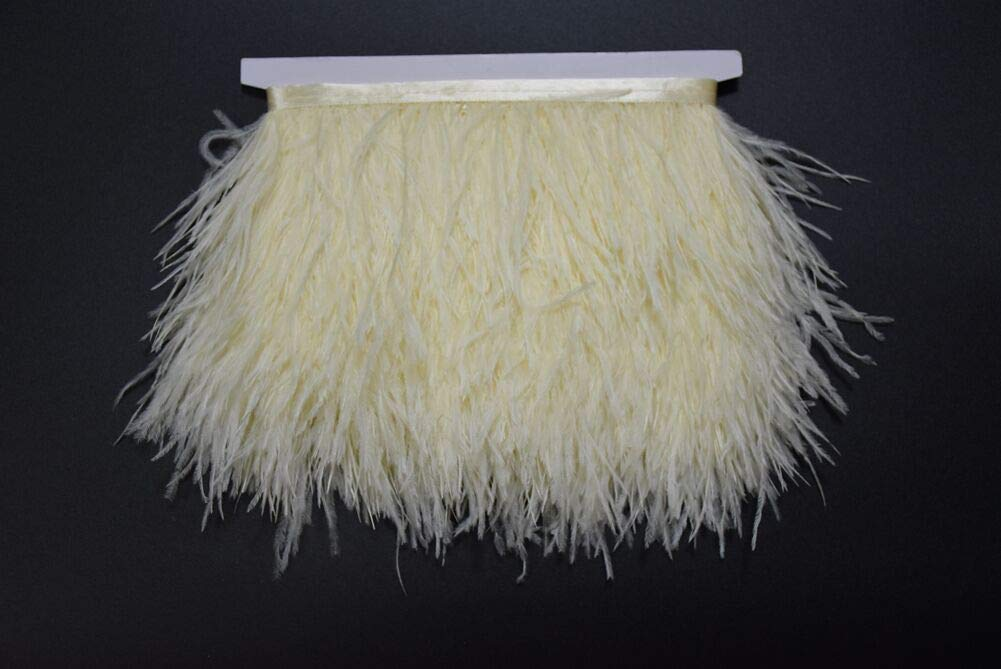 10~15cm Trim Fringe for DIY Dress Sewing Crafts Costumes Decoration Yellow KOLIGHT Pack of 2 Yards Natural Dyed Ostrich Feathers 4~6 inches