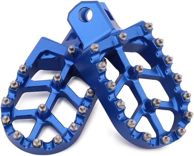Foot Pegs Footpegs Footrest Pedals CNC Aluminum Foot rests For Suzuki RM125 RM250 91-02 RMX250S RMX250R DRZ400 00-04 DRZ400E 00-07 DRZ400S 00-16 KLX400R KX500 DRZ400SM Dirt Bike Blue