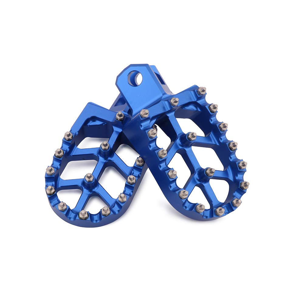 JFG RACING Foot Pegs Footpegs Footrest Foot Pedals Rests CNC MX For SUZUKI RM125 RM250 RM250Z RMX250 DR-Z400 DR-Z400E DR-Z400S DR-Z400SM KAWASAKI KLX400R Motorcycle Blue