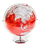 Red & Silver Globe of the World 12''