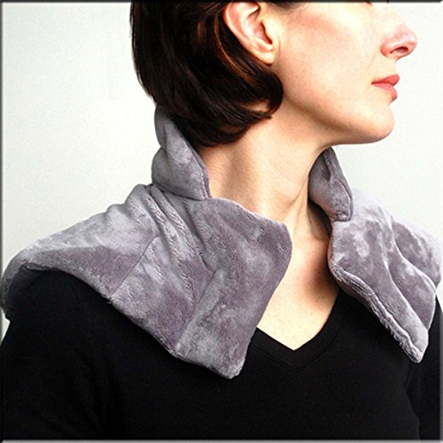 Heated Neck and Shoulder Wrap - Herbal Hot / Cold Deep Penetrating Herbal Aromatherapy - FREE SLEEP MASK INCLUDED! (Microwaveable Herbal Neck Wraps)