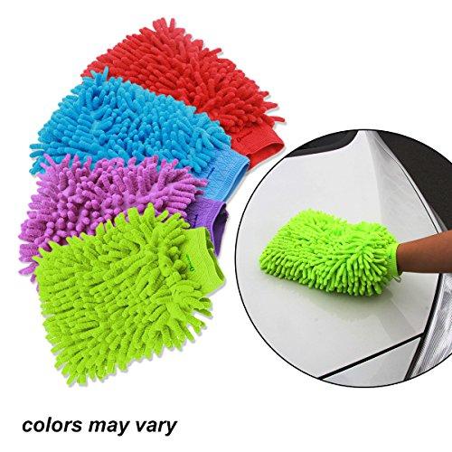 Zento Deals Random Colorful Micro Fiber Wash Mitten (Car Wash Mitt On Stick compare prices)