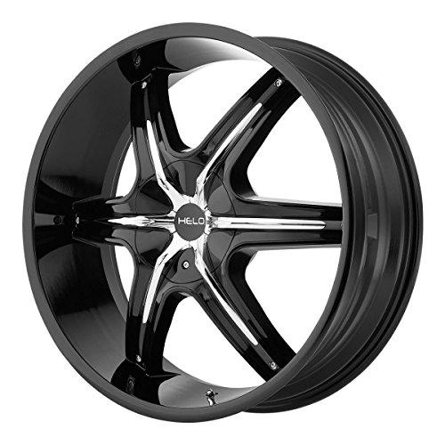 22 he891 wheel black 22x9 6x120 6x139