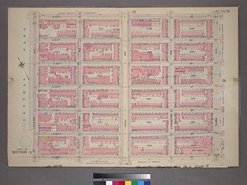 Map Poster - Plate 19, Part of Section 5: [Bounded by E. 65th Street, Third Avenue, E. 59th Street and Fifth Avenue] 18