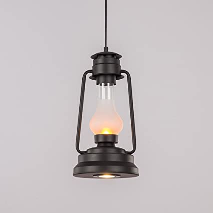 CGJDZMD Industrial Retro Black Wrought Iron Pendant Lights Lantern Classic Antique Edison E27 Hanging L& Chandelier & Amazon.com: CGJDZMD Industrial Retro Black Wrought Iron Pendant ...