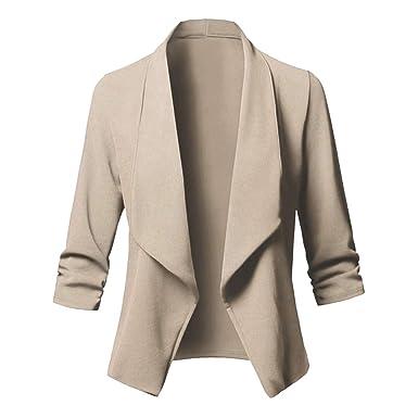 Dihope, Femme Blazer Slim Tailleur OL Veste Formel d affaire Jacket Coat  Top Manches e66d2428e070