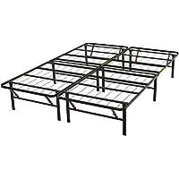 AmazonBasics Platform Bed Frame, Black, Full