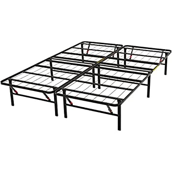 Amazon.com: AmazonBasics Platform Bed Frame, Black, Queen: Kitchen ...