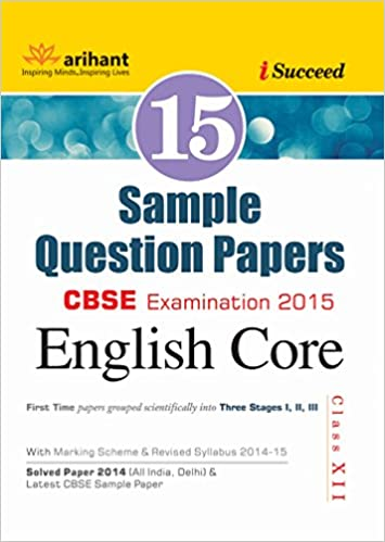 Cbse 15 sample question paper english core for class 12 old cbse 15 sample question paper english core for class 12 old edition amazon lalita dhawan vibha gupta books malvernweather Gallery